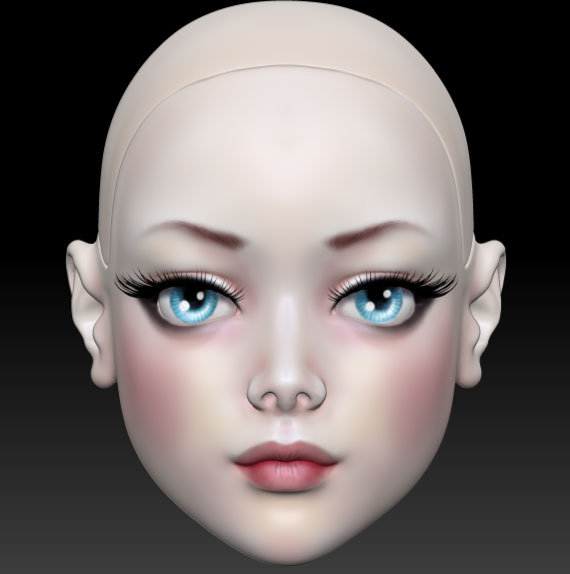 ball jointed doll 3d печать