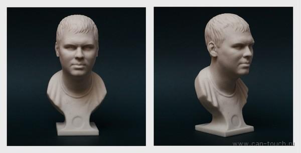 гипсовый бюст, 3D портрет, 3D печать