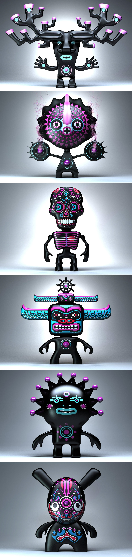 Персонажи  из серии ETNO ALIENS для 3D печати в can-touch.ru