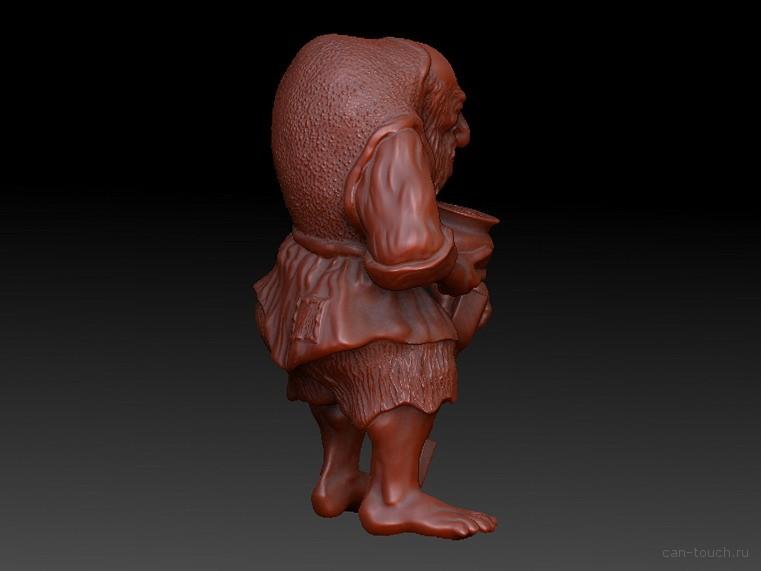 Фигурка деда кладоискателя для 3D печати can-touch.ru