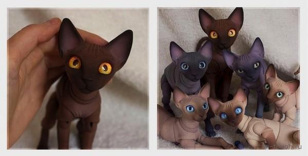 Bjd-коты, созданные при помощи 3D-печати, вызывают бескрайнее умиление!