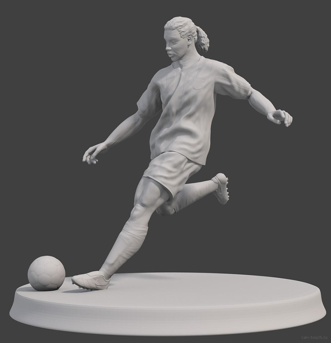 3D-модель фигурки Рональдиньо для 3D-печати