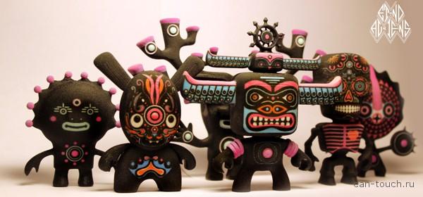 Фигурки Etno Aliens, напечатанные при помощи 3D-печати, это оригинальные подарки для любого праздника