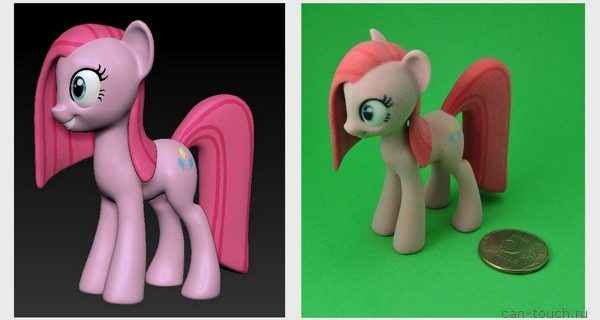 Пони Пинки Пай, напечатанная при помощи 3D-печати