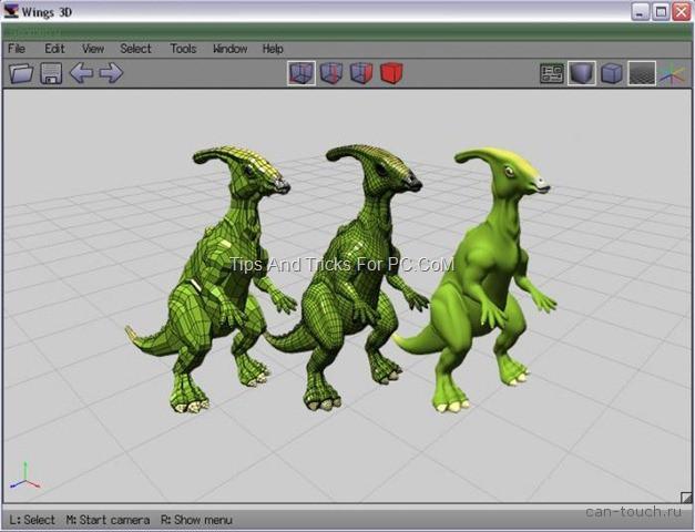 3D моделирование, бесплатные программы, wings3D