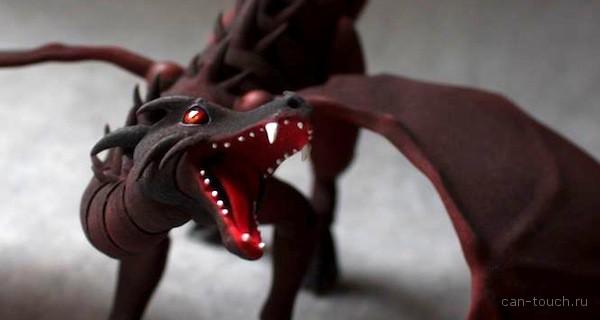 Крылья bjd-дракона, созданные при помощи 3D-печати