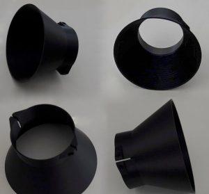 Изготовление на заказ пластиковой детали из PLA для спаренных камер при помощи 3D-печати