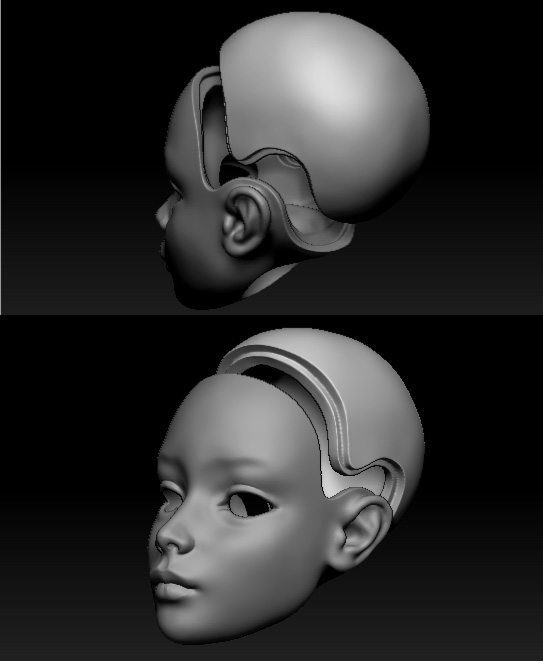 ball jointed doll 3d печать zbrush
