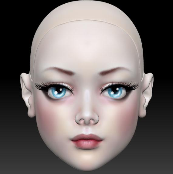 ball jointed doll 3d печать
