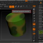 Экспорт модели для полноцветной печати в формат VRML из ZBrush