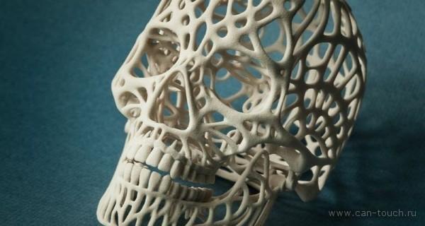 Бежевый прочный пластик (полиамид) материал 3D печати на сайте can-touch.ru