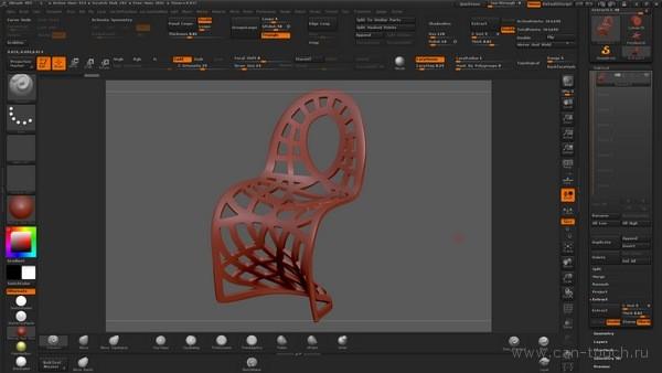 3d печать - моделирование в ZBrush (Alpha)
