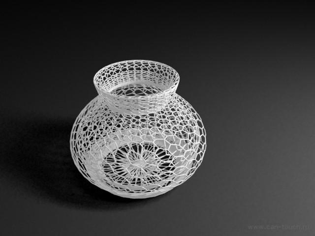 3D модель вазы для 3D печать из бежевого полиамида
