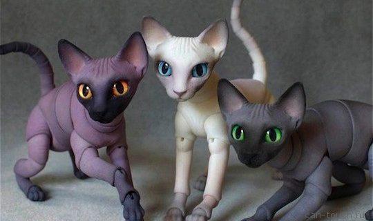 Создаем глаза для bjd-кукол котов при помощи 3D-печати