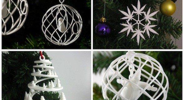 Елочные игрушки, созданные при помощи на 3D-печати, как оригинальный новогодний подарок