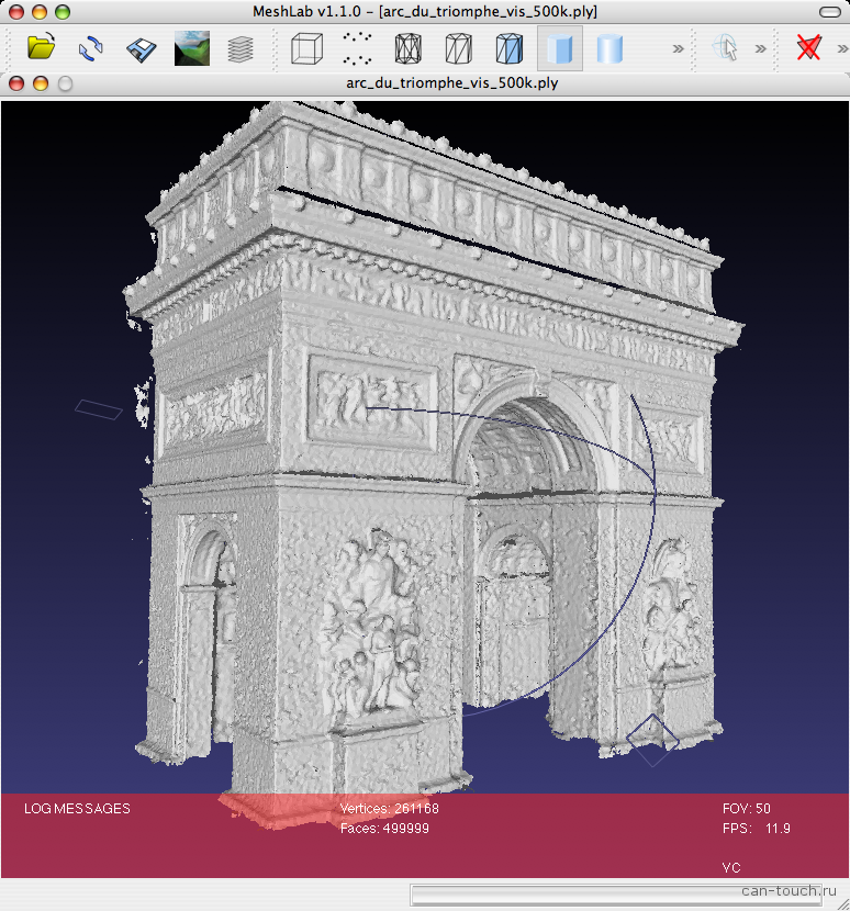 3D моделирование, бесплатные программы, meshlab