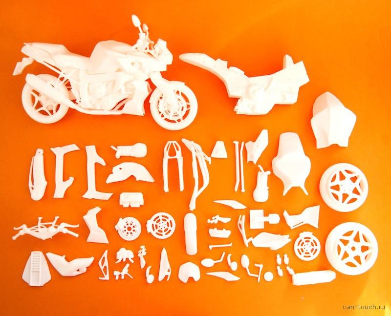 3D-печать, модель мотоцикла