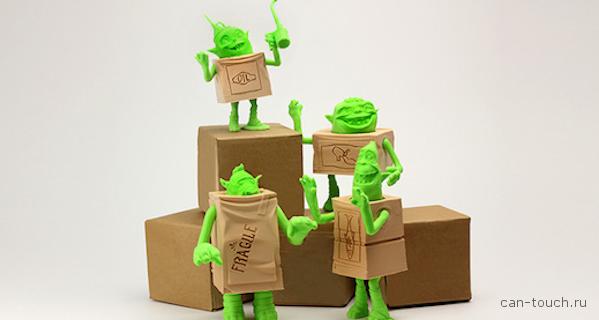 3D-печатные персонажи анимационного фильма  «The Boxtrolls»
