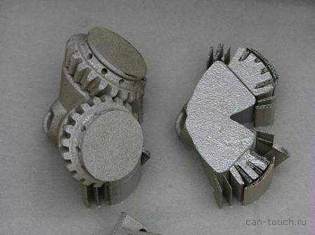 3D-печать металлом - до удаления поддежек