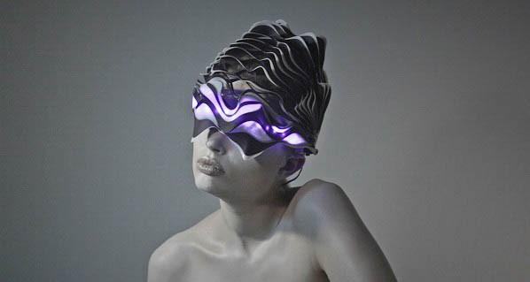Меняющий форму шлем, созданный при помощи 3D-печати