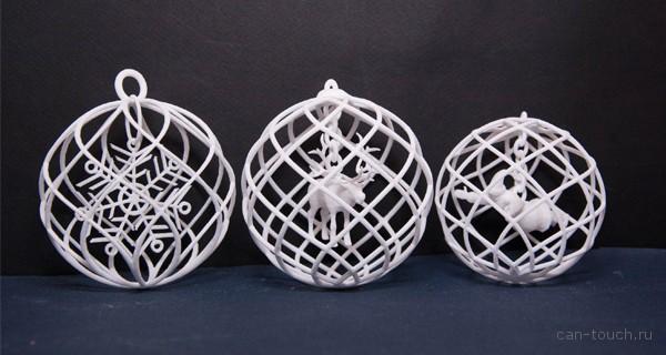 3D-печать, новогодние украшения