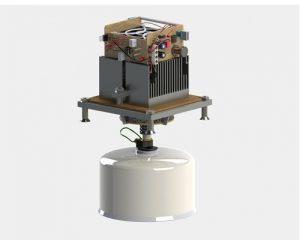 Рендер прототипа портативной зарядки использующий термоэлектрический эффект для получения энергии