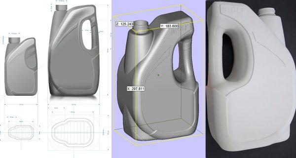 Проектирование упаковки для моторного масла