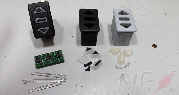 Изготовление кнопок для автомобиля при помощи вакуумного литья в силикон
