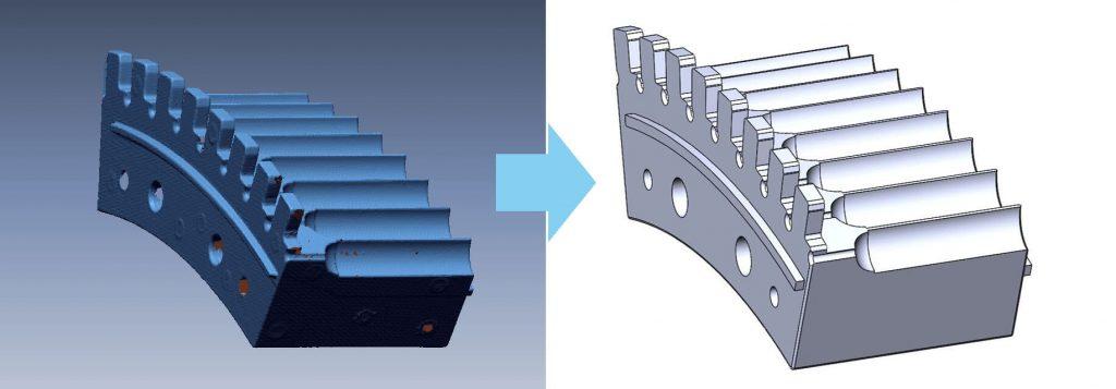 Процесс реверс-инжиниринга может быть осуществлен с помощью 3D-сканирования. На выходе вы получаете готовую 3D-модель.