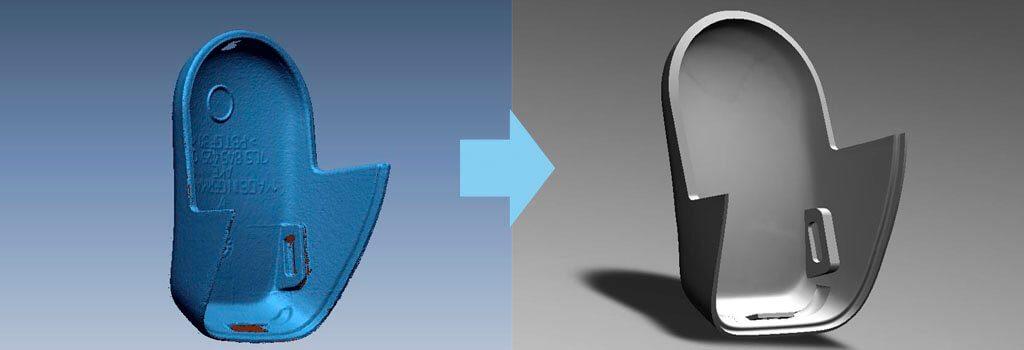 Процесс реверс-инжинининга может быть осуществлен с помощью 3D-сканирования. На выходе вы получаете готовую 3D-модель.
